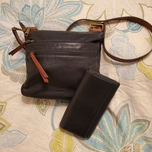 Fossil Bag with matching Wallet